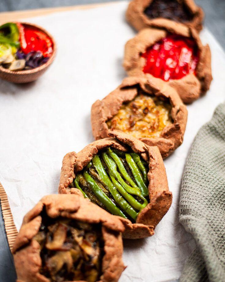 Mini Galettes with Seasonal Vegetables | Vegan