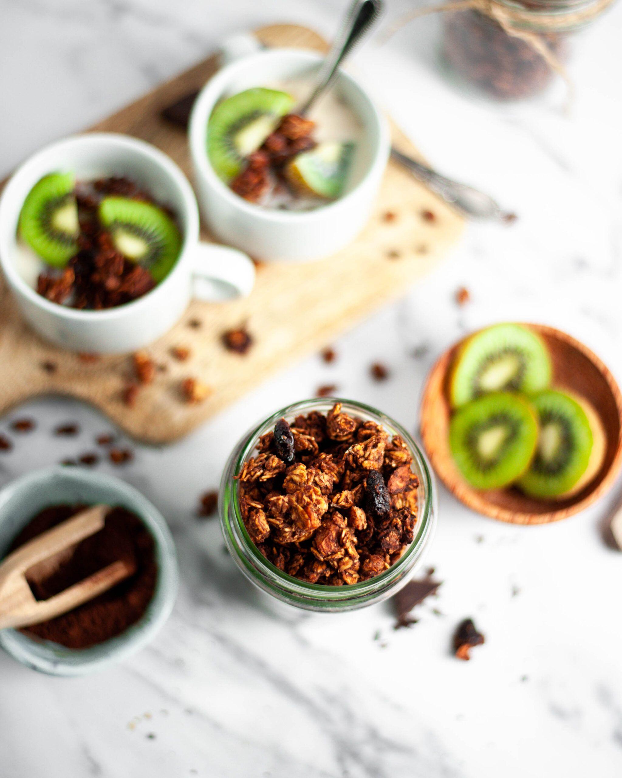 Chocolate vegan granola