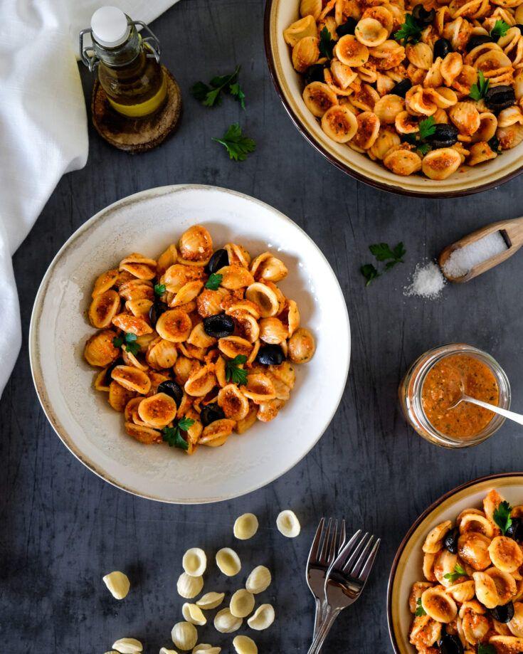 Roasted Pepper Pasta | Vegan